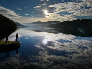 people fishing in Loch lomond